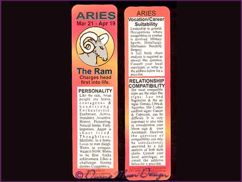 Bookmark Zodiac Star-Sign – ARIES