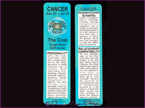 Bookmark Zodiac Star-Sign – CANCER