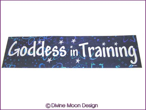 BUMPER STICKER � Holographic (4B) Blue - GODDESS in TRAINING
