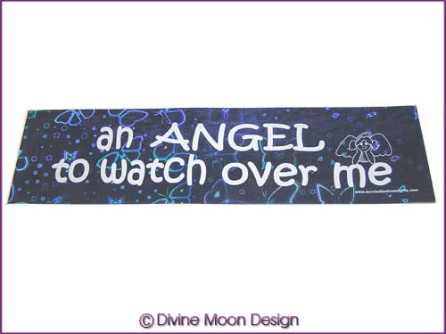 BUMPER STICKER � Holographic (14B) Blue � ANGEL TO WATCH OVER ME