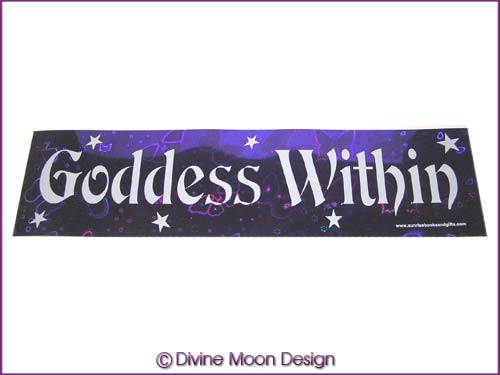 BUMPER STICKER � Holographic (13A) Purple � GODDESS WITHIN