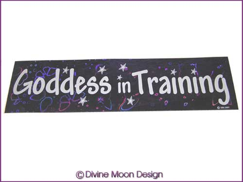 BUMPER STICKER � Holographic (4A) Purple - GODDESS in TRAINING