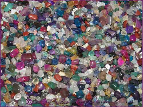 Mixed Mini Tumbled Fairy Chip Crystals - 50 grams - Type B