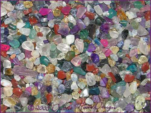 Mixed Mini Tumbled Fairy Chip Crystals - 50 grams - Type C