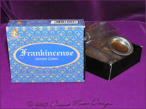 Box of Kamini Aromatics INCENSE CONES - FRANKINCENSE