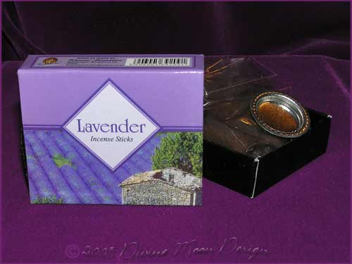 Box of Kamini Aromatics INCENSE CONES - LAVENDER