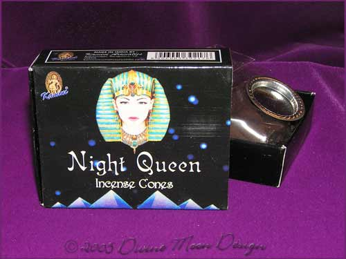 Box of Kamini Aromatics INCENSE CONES - NIGHT QUEEN