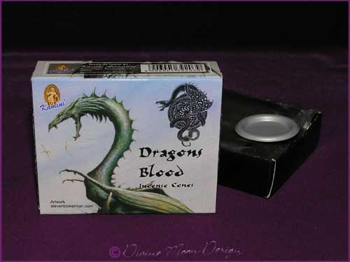 Box of Kamini Aromatics INCENSE CONES - DRAGONS BLOOD