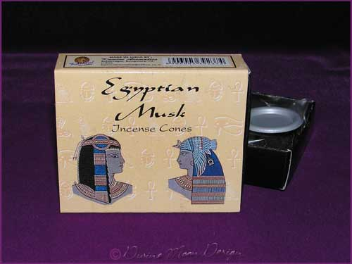 Box of Kamini Aromatics INCENSE CONES - EGYPTIAN MUSK