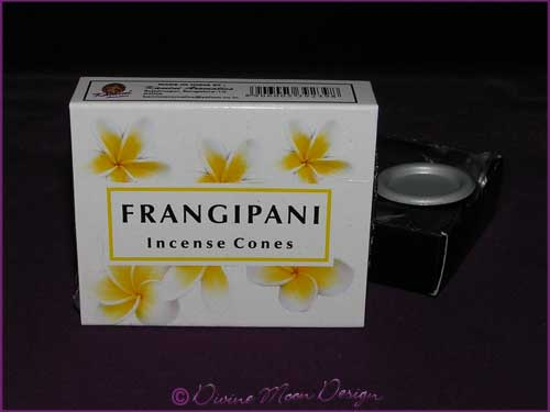 Box of Kamini Aromatics INCENSE CONES - FRANGIPANI