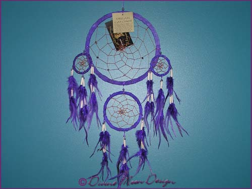 DREAM CATCHER Native American Indian design - Large B) Purple