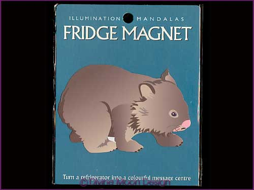 FRIDGE MAGNET Australian Made - WOMBAT