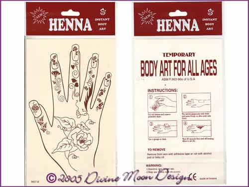 HENNA BODY ART pack Hand DESIGN (E)
