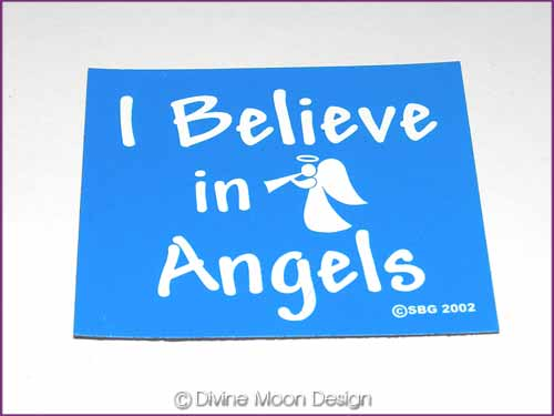 FRIDGE MAGNET Oz Made 16B) BLUE – I Believe in Angels