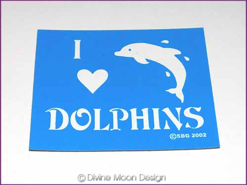 FRIDGE MAGNET Oz Made 17B) BLUE – I Love Dolphins
