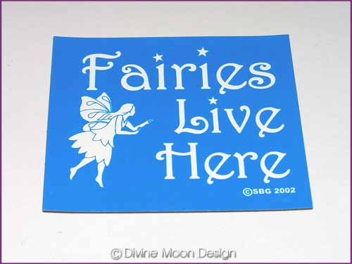 FRIDGE MAGNET Oz Made 2B) BLUE – Fairies Live Here
