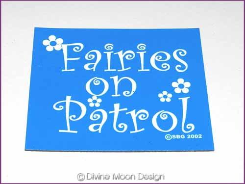 FRIDGE MAGNET Oz Made 18B) BLUE - Fairies on Patrol