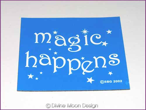 FRIDGE MAGNET Oz Made 1B) BLUE – Magic Happens