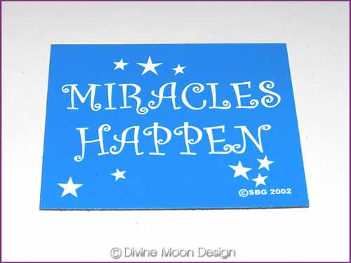 FRIDGE MAGNET Oz Made 6B) BLUE - Miracles Happen