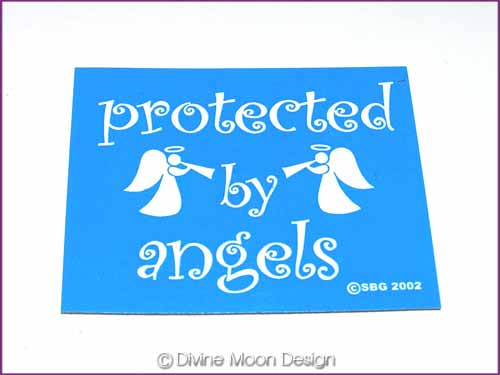 FRIDGE MAGNET Oz Made 5B) BLUE – Protected by Angels