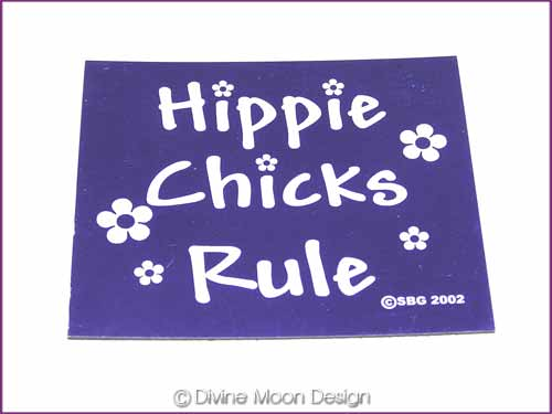 FRIDGE MAGNET Oz Made 12A) PURPLE - Hippie Chicks Rule