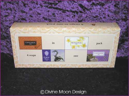 Boxed Pack of 4 Kamini Aromatics 100 gram SOAP bars MIX B)