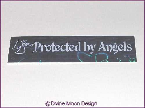 Holographic Sticker (5B) Blue MINI - Protected by Angels