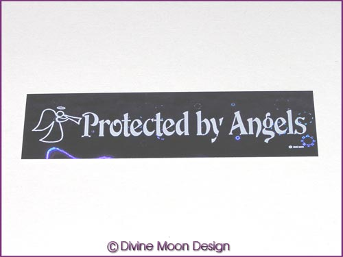 Holographic Sticker (5A) Purple MINI - Protected by Angels