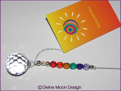 SUN CATCHER Austrian Crystal - Faceted Ball (F) RAINBOW