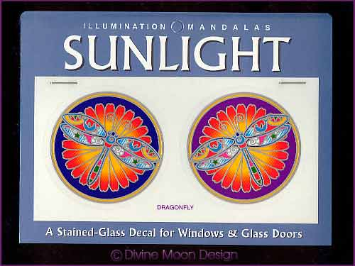 SUNLIGHT Glass Decal / Sticker for Windows - DRAGONFLY