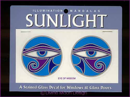 SUNLIGHT Glass Decal / Sticker for Windows - EYE of WISDOM