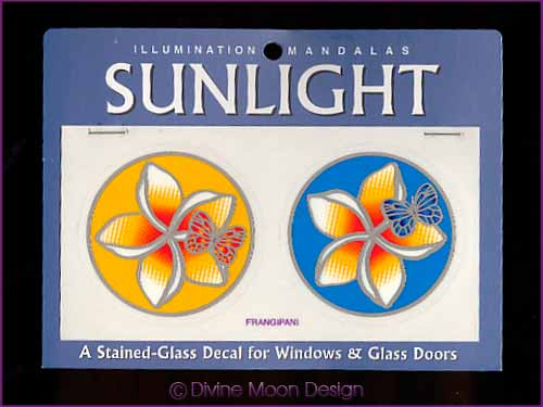 SUNLIGHT Glass Decal / Sticker for Windows - FRANGIPANI