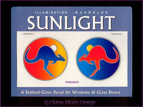 SUNLIGHT Glass Decal / Sticker for Windows - KANGAROO