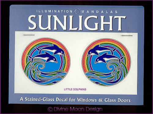 SUNLIGHT Glass Decal / Sticker for Windows - LITTLE DOLPHINS