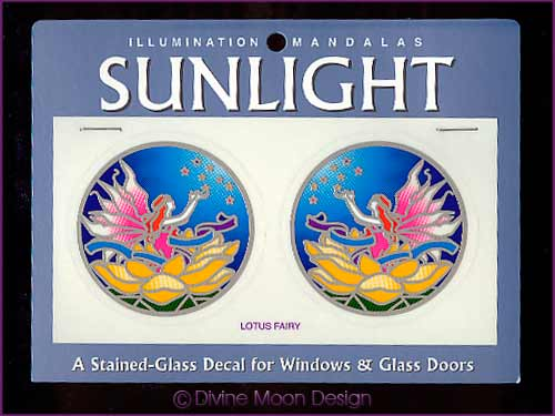 SUNLIGHT Glass Decal / Sticker for Windows - LOTUS FAIRY