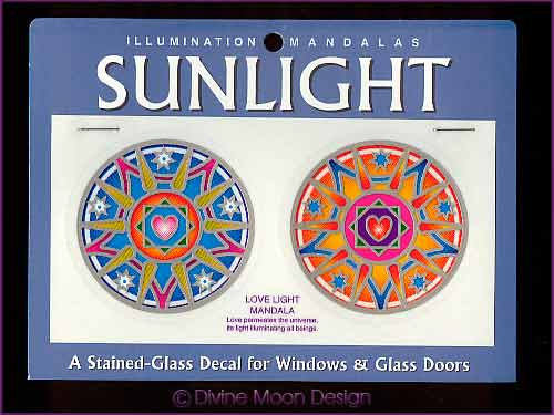 SUNLIGHT Glass Decal / Sticker for Windows - LOVE LIGHT MANDALA