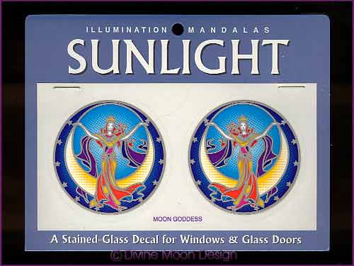 SUNLIGHT Glass Decal / Sticker for Windows - MOON GODDESS