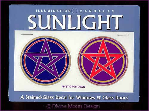 SUNLIGHT Glass Decal / Sticker for Windows - MYSTIC PENTACLES