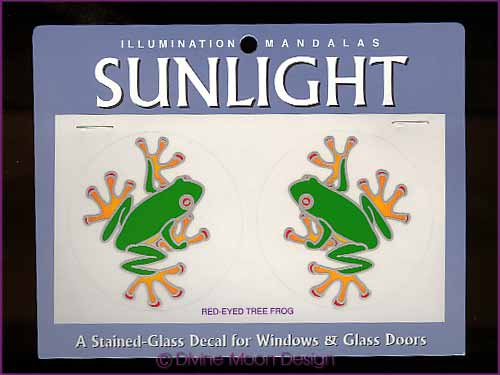 SUNLIGHT Glass Decal / Sticker for Windows - RED-EYED TREE FROG