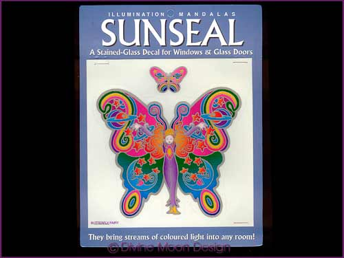SUNSEAL Glass Decal / Sticker for Windows - BUTTERFLY FAIRY