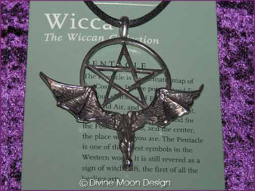 WICCA Jewellery Pendant K) Pentacle & Dragon 2