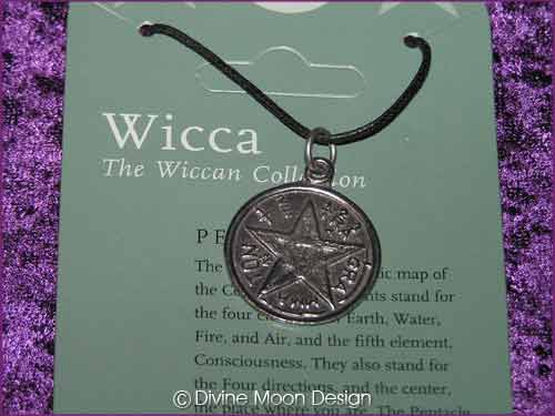 WICCA Jewellery Pendant Q) Pentacle 3
