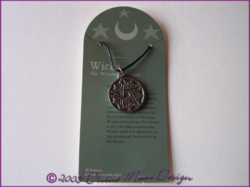 WICCA Jewellery Pendant B) Celtic 1 Pentagram